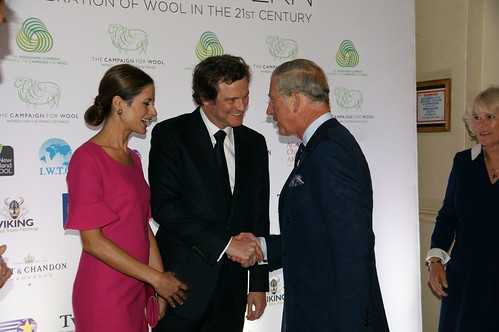 The Prince of Wales and The Duchess of Cornwall attend the launch of Wool Modern | by The British Monarchy