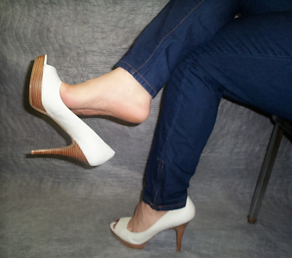 Sexy heelpopping feet shoeplay at council meeting - 2 part 2