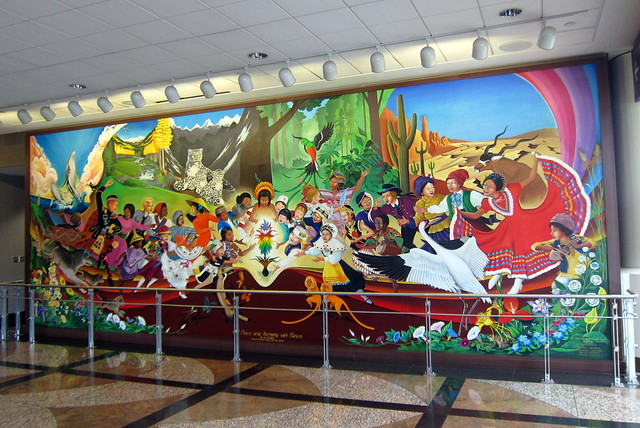 Denver denver international airport in peace and for Denver international airport mural