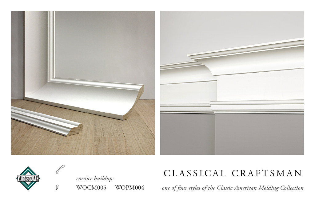 Classical craftsman crown molding cornice buildup crown for 9 inch crown molding