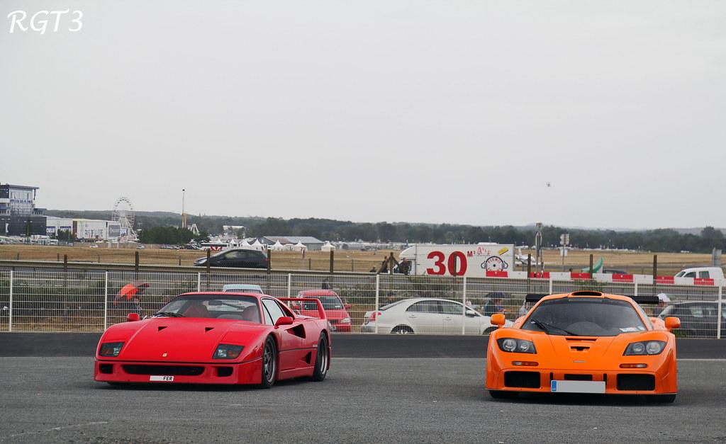 Ferrari F40 and McLaren F1