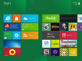 windows 8 metro start screen | by Denis Gobo
