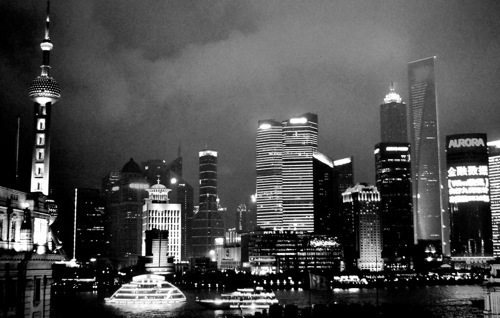 city lights black and white - photo #32