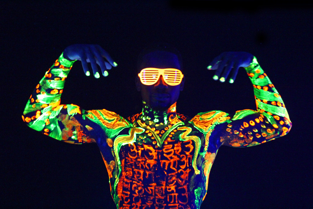 rich - black light body paint | ntroducing rich chill ...