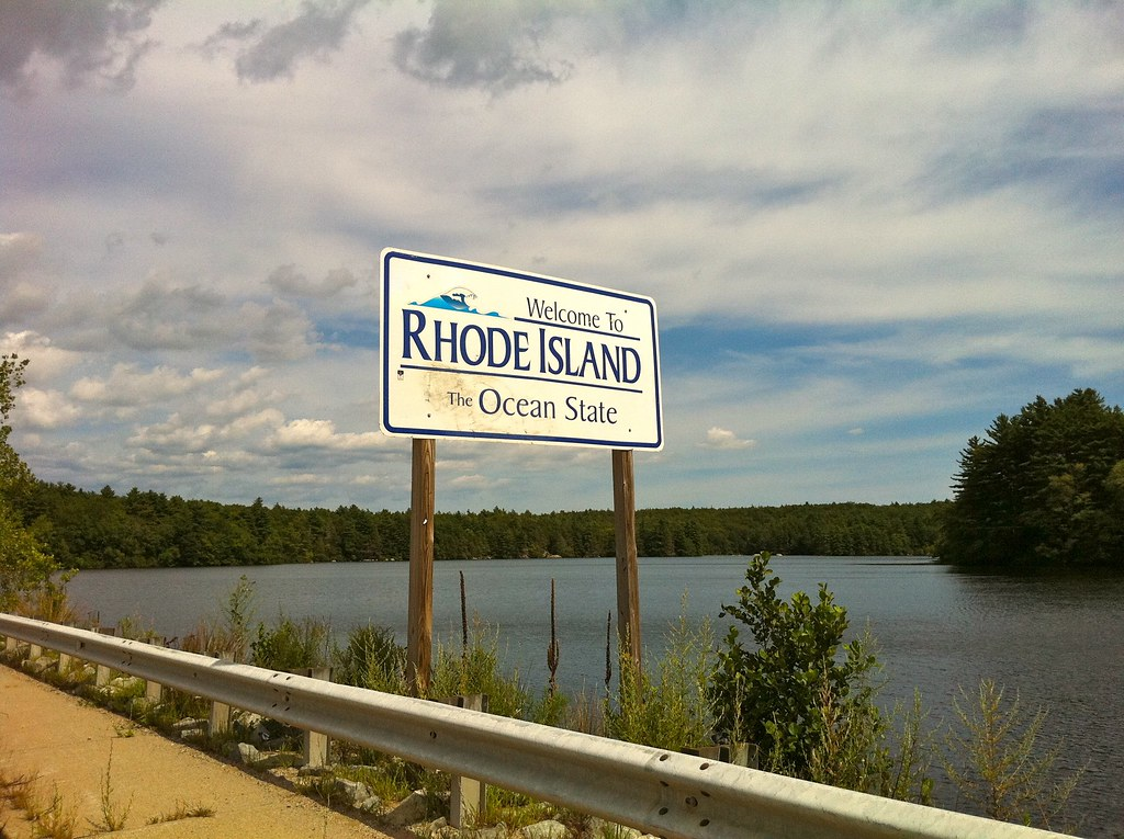 Pachaug Trail Quot Welcome To Rhode Island Sign Quot At Beach Po