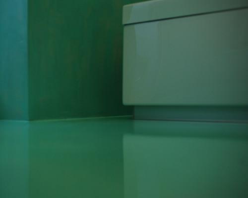 Bagno Resina verde acqua spatolato verticale autolivellant…  Flickr