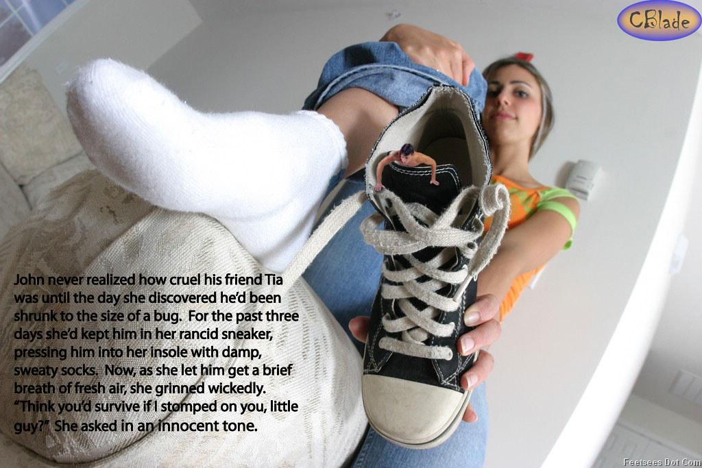 feet captions Giantess
