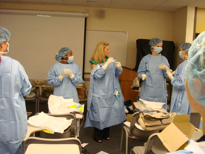 Sterile procedure gowning lab   UCF Pre-Veterinary Society   Flickr