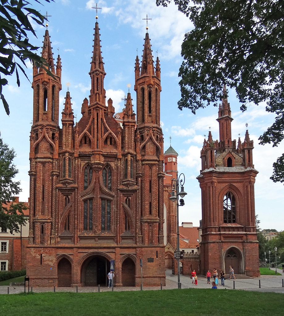 Vilnius St Anne S Church This Is The Best Example Of