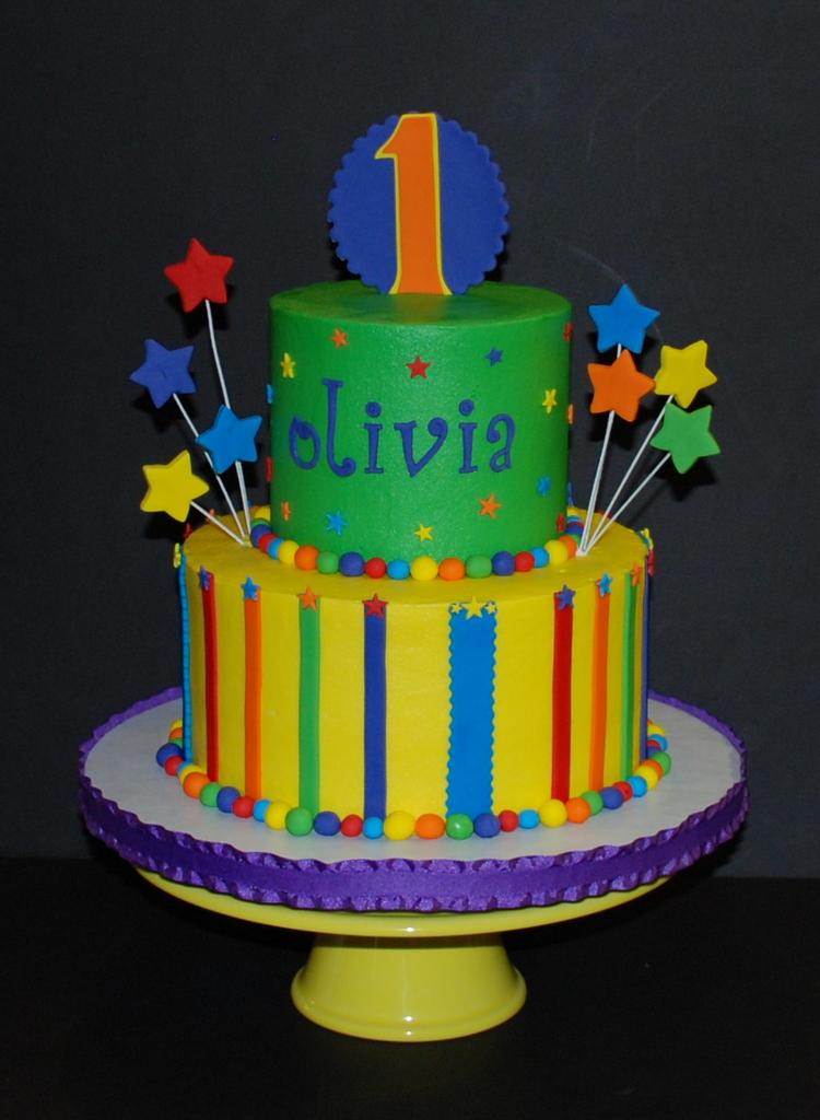 Bright Fun Birthday Cake Birthday Cake For A Sesame Stre Flickr