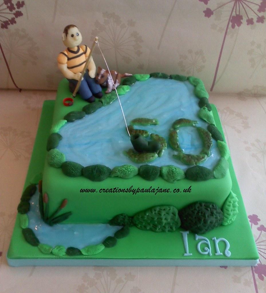 Cake Decorating Newtown : Fishing Cake www.creationsbypaulajane.co.uk Paula Town ...