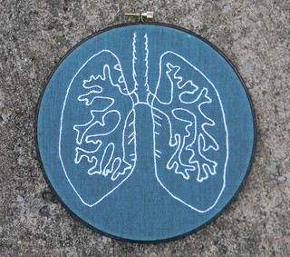 Anatomy Lung Embroidery Hoop Art | by Hey Paul Studios