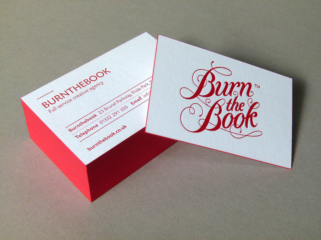 burnthebook letterpress business cards 1 by typoretum - Letterpress Business Cards