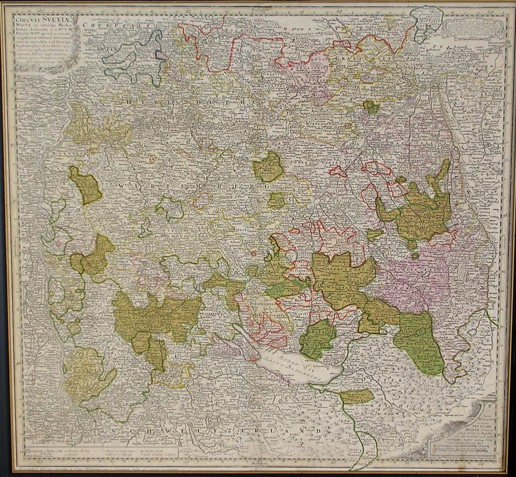 Southwest Germany 1745 A 1745 Map Of Southwest Germany Flickr