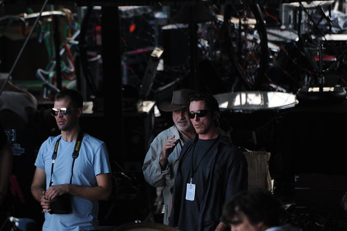 Christian Bale & Terrence Malick filming on stage during Bright Eyes @ Austin City Limits 9-16-2011 | by danfun