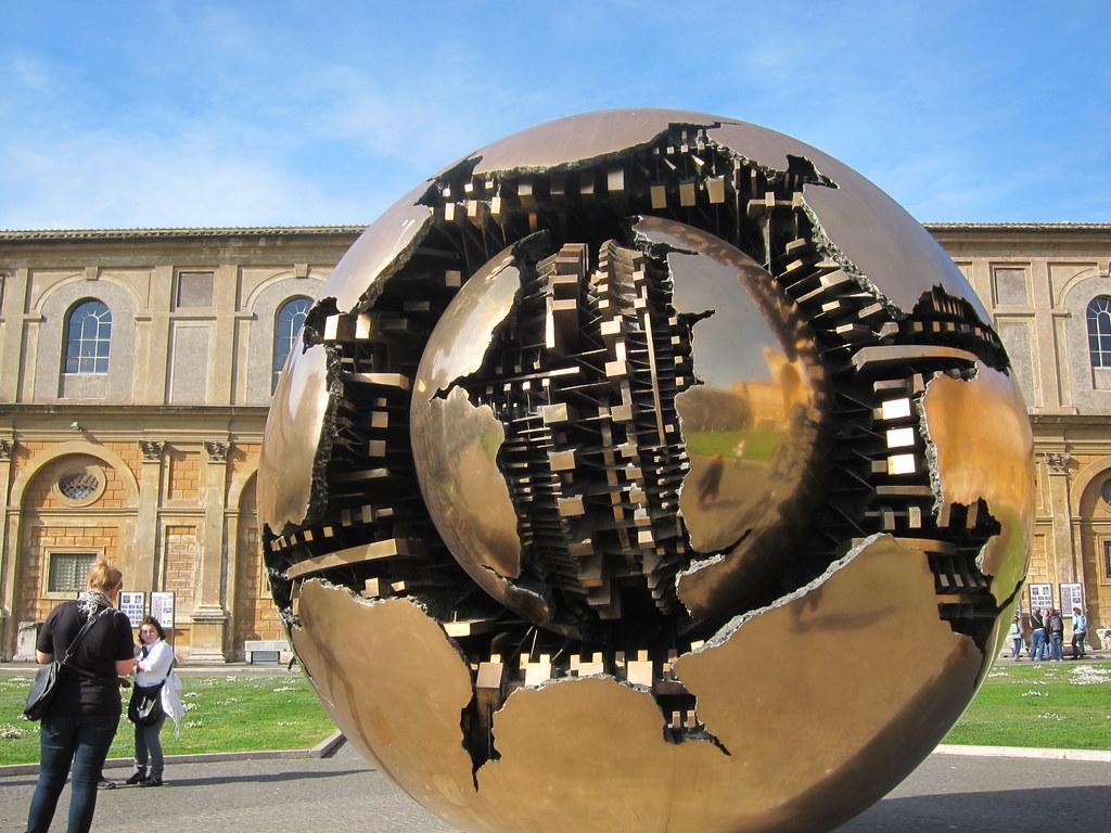 Sfera Con Sfera Sphere Within Sphere At Cortile Della Pi