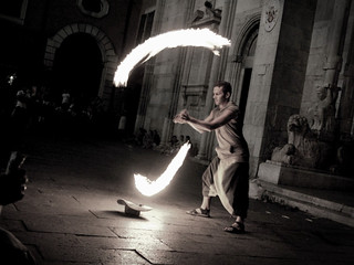 Flaming busker | by mirkuz