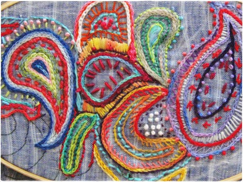 Paisley Hand embroidery | by peregrine blue