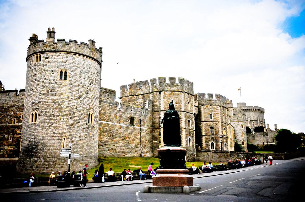 Queen Victoria Statue At Windsor Castle England Queen