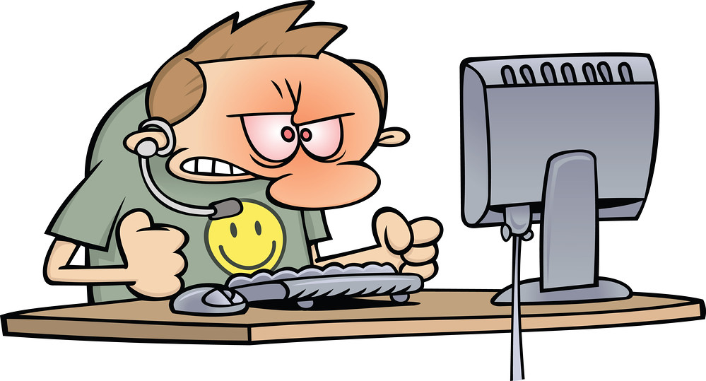 Angry At Computer Clipart