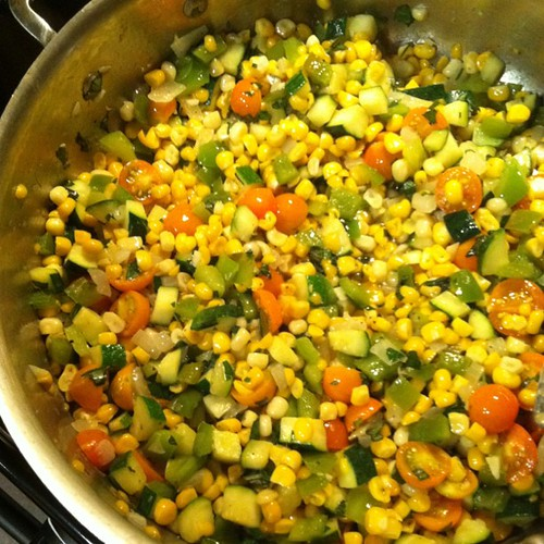 Succotash!! One of my favorite summer sides! | by katiejocannon