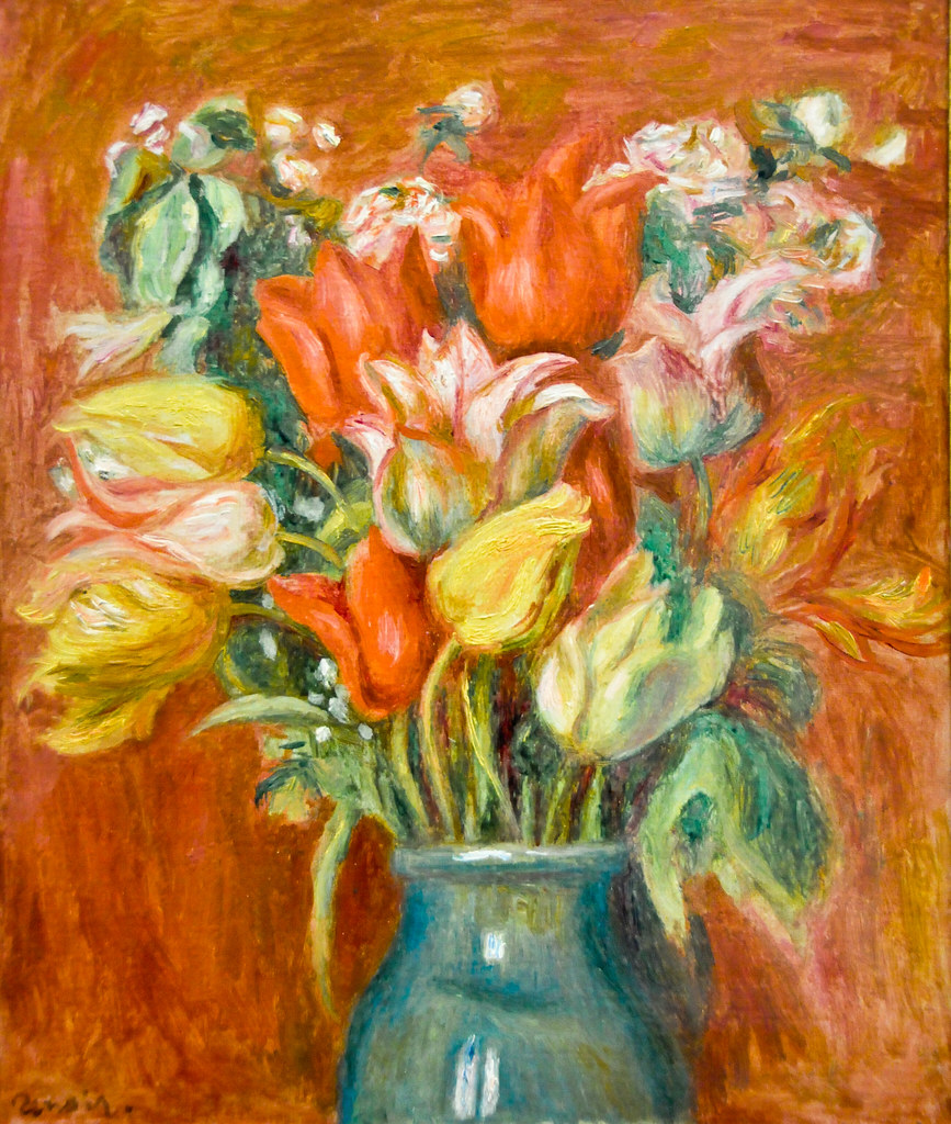 Pierre auguste renoir bouquet de tulipes 1910 at mus e for Bouquet de tulipes