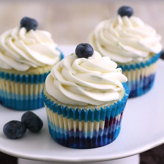 Blueberry Cupcakes with Lime Cream Cheese Frosting | by Tracey's Culinary Adventures
