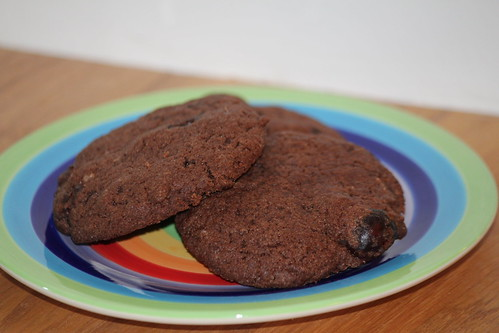 Chocolate & cherry cookies | by Rachel Cotterill