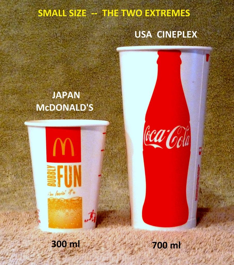 Japan Mcdonald S Vs Usa Cineplex Small Size Extremes