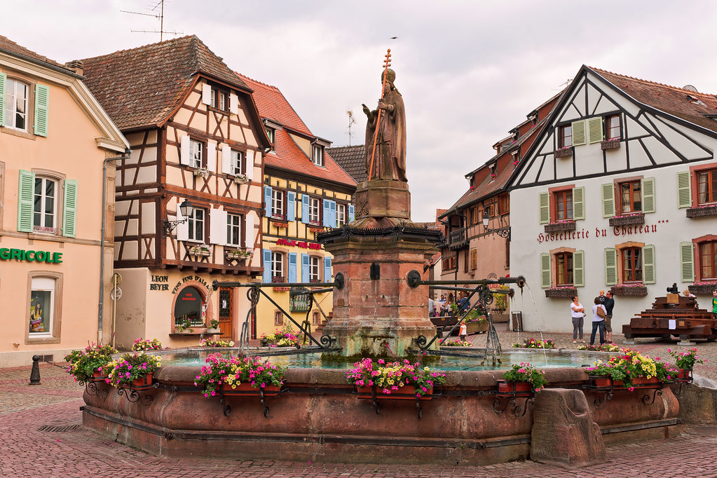 The nice village of eguisheim after the visit of colmar Colmar beauty and the beast