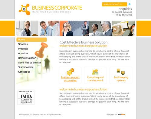 web design template for corporate business service landin flickr. Black Bedroom Furniture Sets. Home Design Ideas