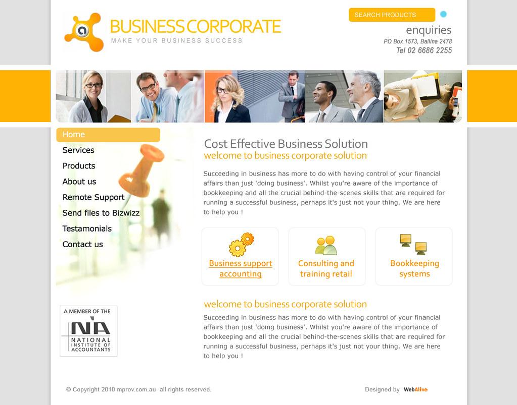 Web design template for Corporate Business Service- landin…   Flickr