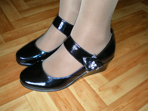 Shiny Black Patent Leather Mary Jane Shoes Kerry