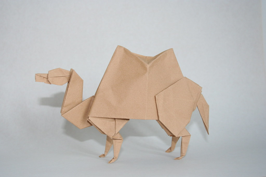 origami camel designed by john montroll diagrams are in