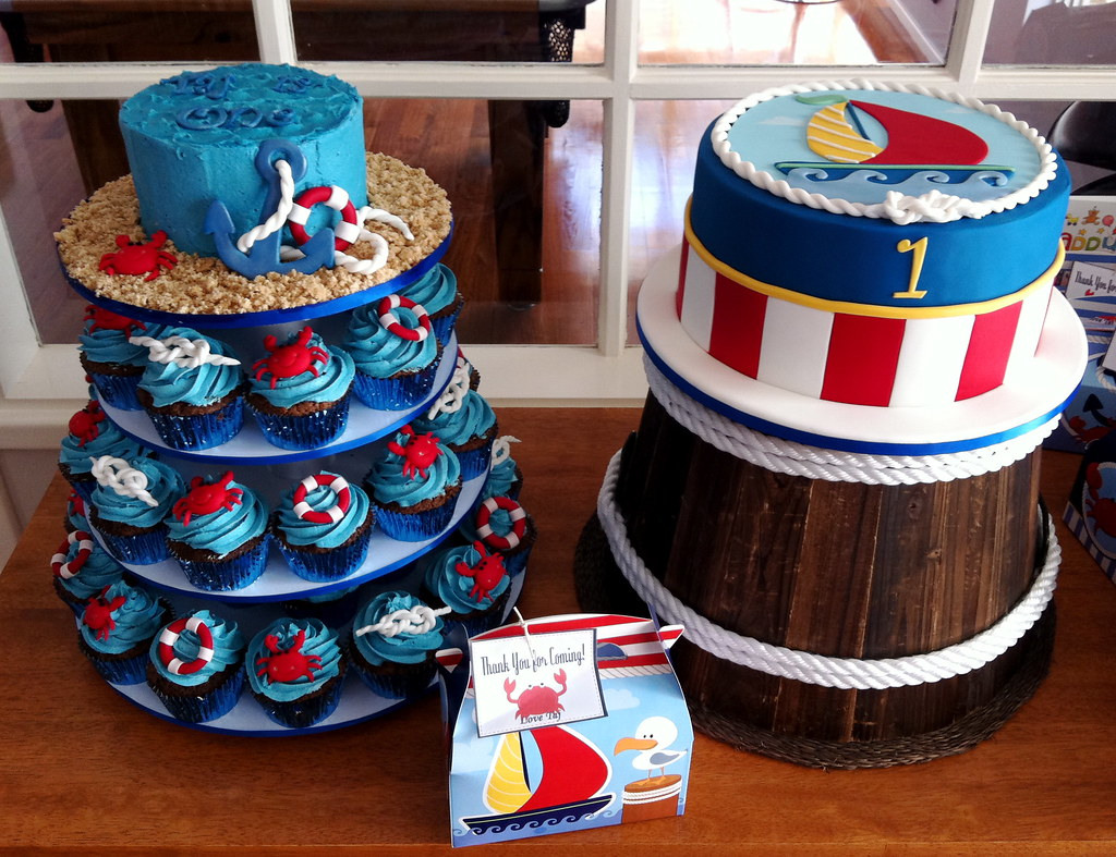 Nautical 1st Birthday Nautical Themed Cakes For A First Bi Flickr