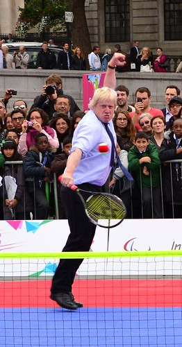 Mayor of London Boris Johnson playing tennis at International Paralympic Day 2011 | by The Department for Culture, Media and Sport