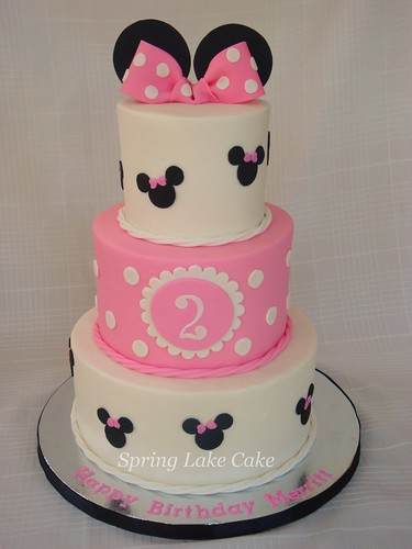 Minnie Mouse Cake Customer Gave Me A Similar Photo Done