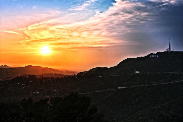 Hollywood Hills Sunset Hollywood Hills Sunset...