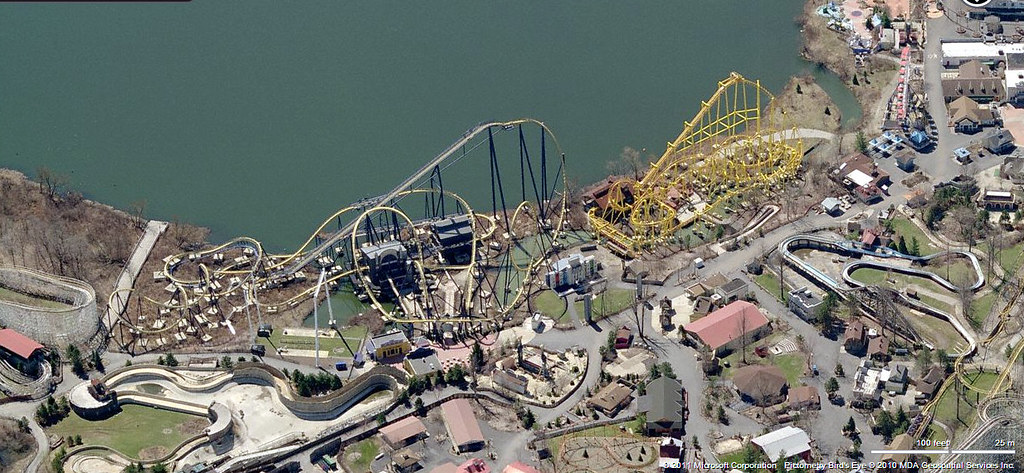 geauga lake aerial view from bing maps by trainsandstuff
