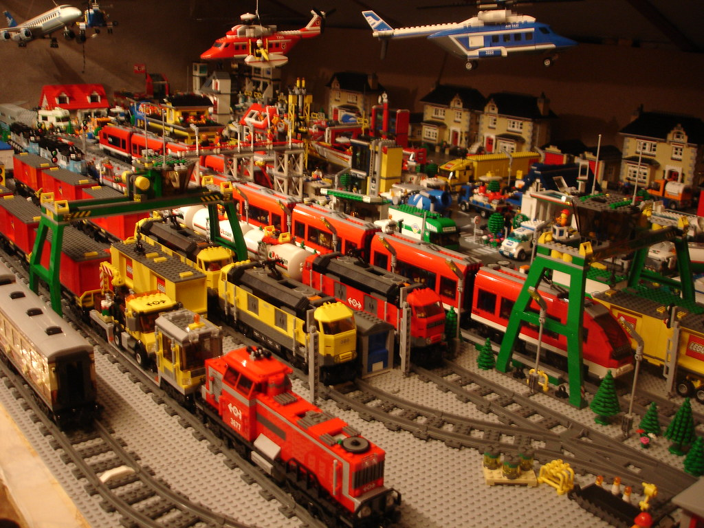 My Lego City with track area | Here you can also see that ai ...