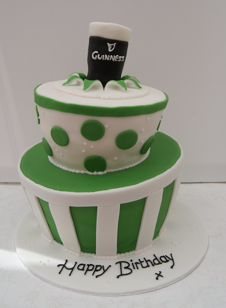 Irish Theme Wonky Birthday Cake A Year Ago I Did This