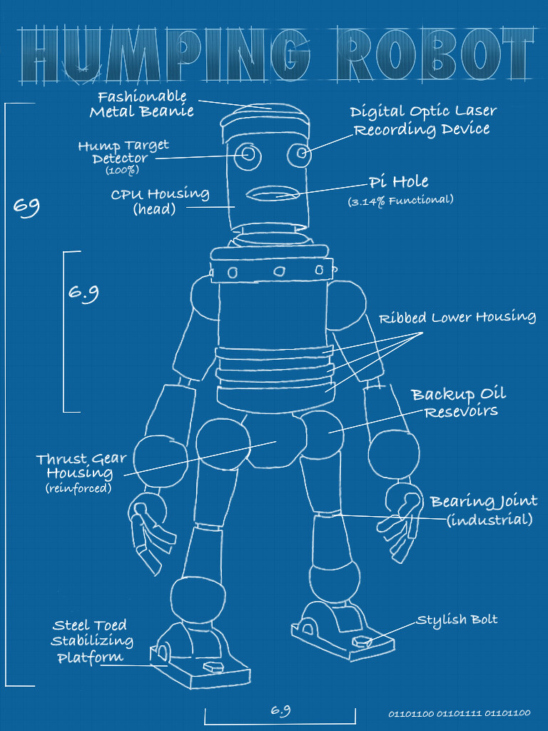 Blueprints For A Modern Four Bedroom Home: Humping Robot Blueprints