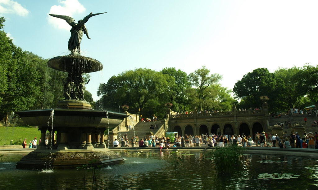 Central Park Bethesda Fountain | Angel of the Waters, also ...