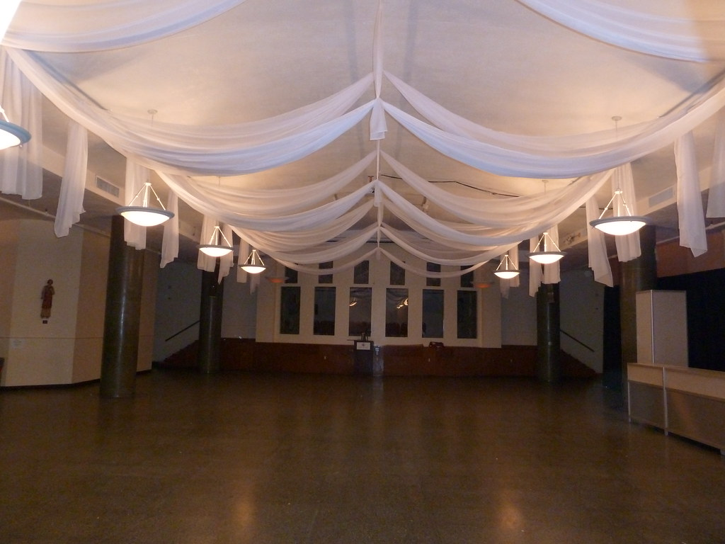 White Ceiling Drapes For A Bat Mitzvah In Boston MA