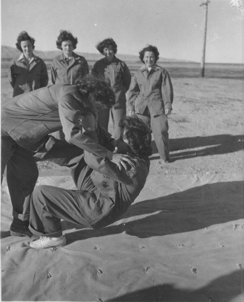El Toro Marine Base >> Women Marines practice self defense, circa 1945 | Women Mari… | Flickr