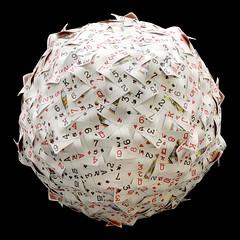 Poker cards sphere