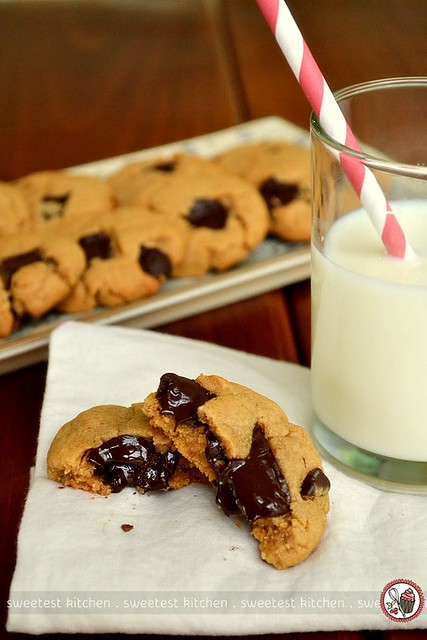 Peanut Butter Chocolate Chunk Cookies | These are butterless ...