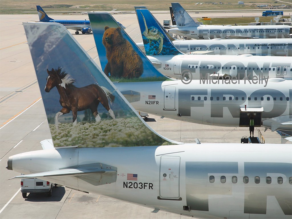Frontier Airlines Airbus Tails | 8th August 2011., Denver ...