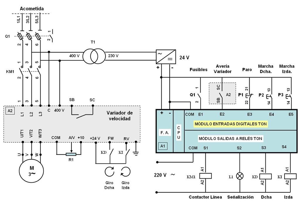 Circuito Variador De Frecuencia : Slmrf cont r circuito con contactor y variador flickr