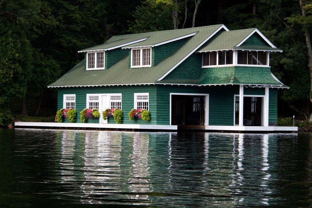 Lake muskoka boathouse gary j wood flickr for 2 story lake house